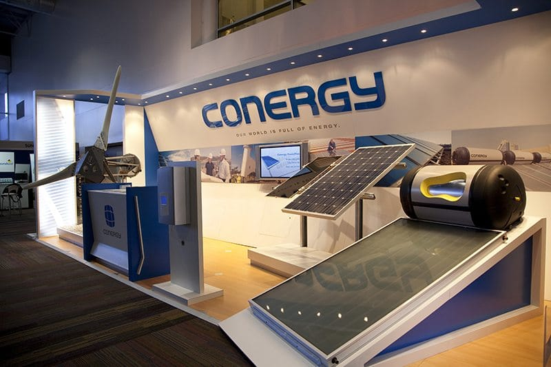 conergy expo stand at corporate energy event
