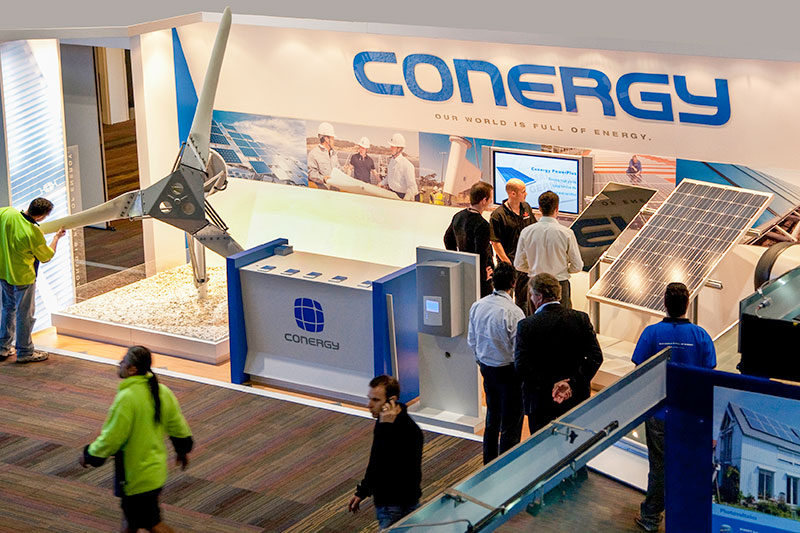 conergy expo stand showing commercial product photography