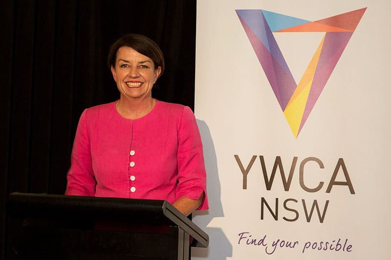 ymca ceo anna bligh at a corporate event