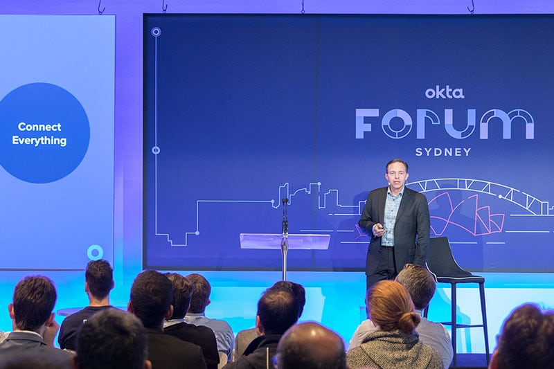 okta global forum by sydney corporate photography and video