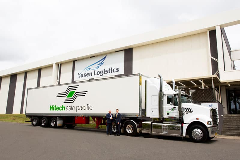 a large semi trailer yusen logistics corporate storytelling image library