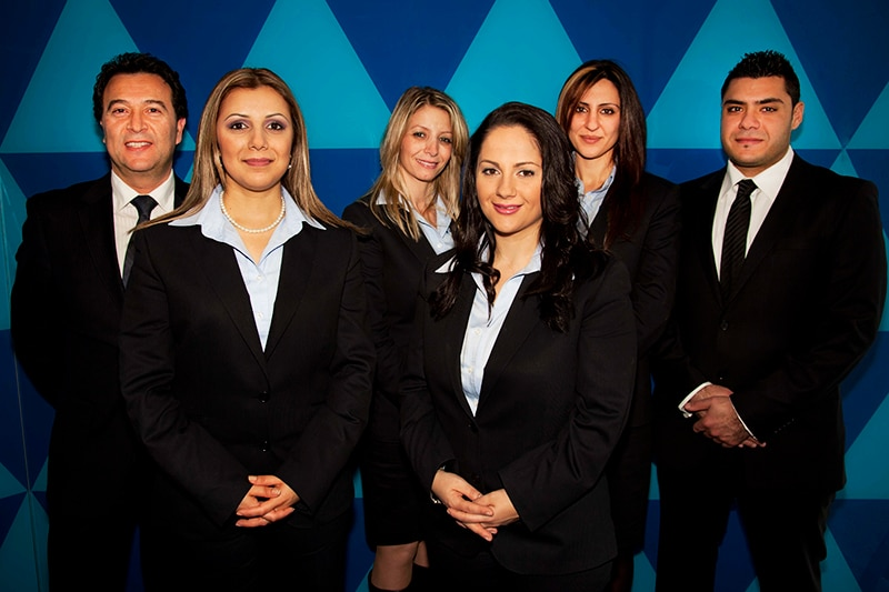 the sales team at the bank of sydney