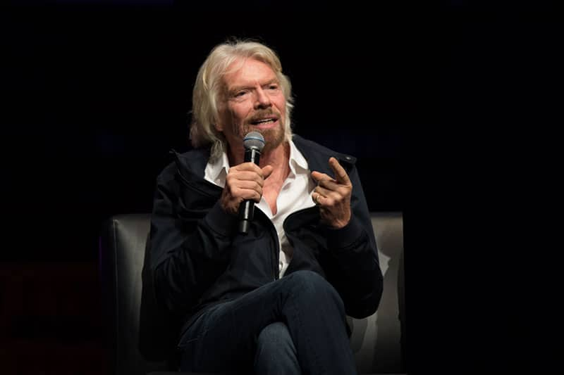 keynote speaker sir richard branson at a corporate event