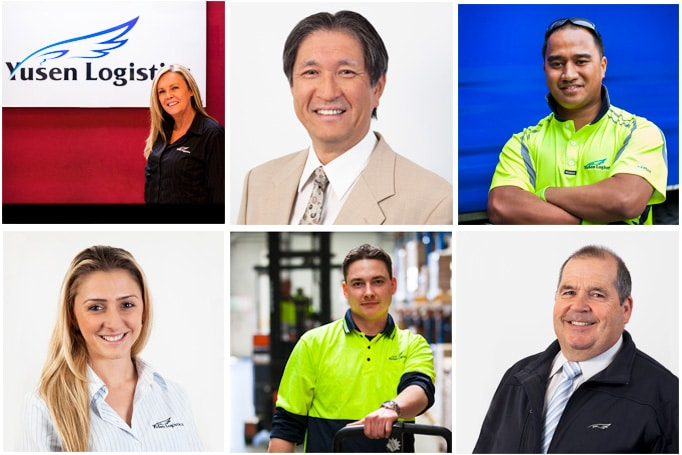 a selection of headshot images from yusen logistics