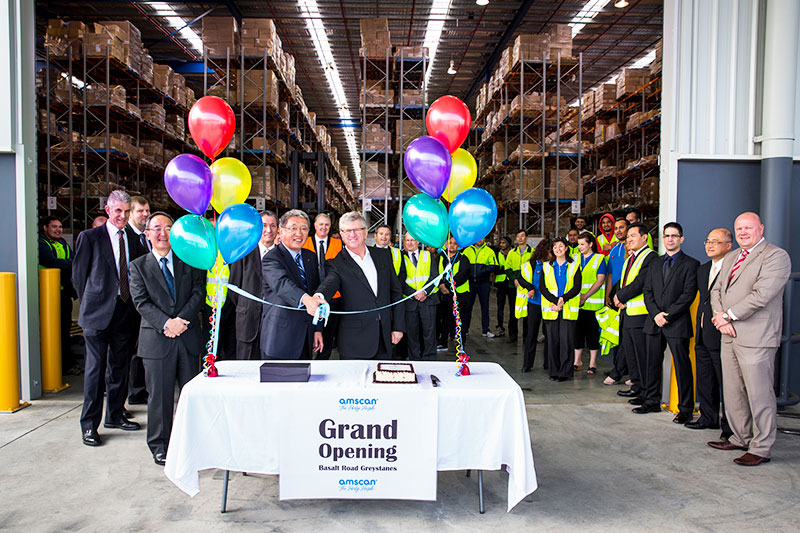 the grand opening of a warehouse from the yusen logistics corporate storytelling image library