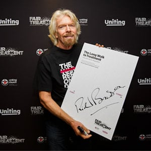sir richard branson at a corporate event taken by sydney corporate photography & video